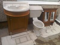 Heritage Ivory and Antique Pine Bathroom fixtures and fittings