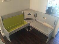 Painted corner bench £150