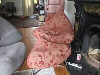 Selling red armchair