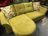 DFS sofa lime green