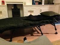 Jrc cocoon bedchair & 4 season sleeping bag