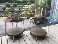 2 Beautiful Glass Topped Coffee Tables with Rattan Base *COLLECTION ONLY* Caterham £25 the pair