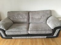 Soft grey cord 2 & 3 seater sofas