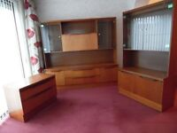 2 matching wall units and tv stand.