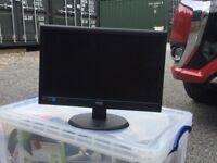 AOC widescreen 18.5 LED monitor - used