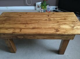 Pine wood beautiful coffee table TV stand sideboard living room real wood