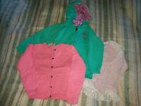Hoodie, cardigan and sweatshirt for 3-4 years old girls