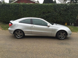 Mercedes Benz C Class Auto – Silver Coupe 2003 – Spare or Repair - £500
