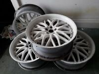 Golf gti White Alloy Wheels & Tyres x4 excellent condition! £150 ono