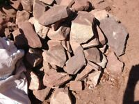 A quantity of natural Forest of Dean stone suitable for building wall or rockery