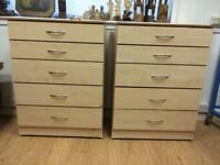 Matching pair of modern chest of drawers