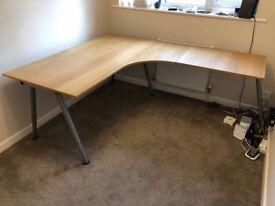 Ikea corner desk with extension