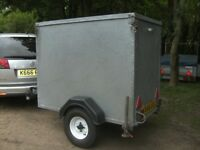 VERY RARE FULLY GALVANISED STEEL BOX TRAILER 5X3X4 WITH RAMPTAIL..