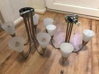 Two light fittings for free from chessington
