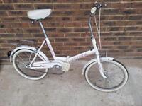 Retro fold up bike