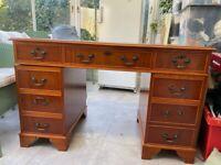 Reproduction yew desk in AL5