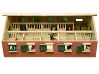 Toys: Large wooden horse stable with 9 horse stalls - ideal for a pony mad child!