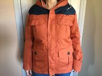 Ladies shower proof jacket with hood