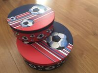 Children's Storage Boxes with Football Design