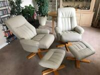 2 reclining swivel tv chairs