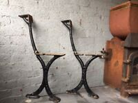 Walter Macfarlane & Co Glasgow Victorian Cast Iron Bench Ends Bandstand Bench