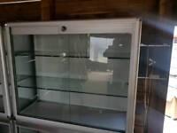 Glass/aluminium retail Display cupboards