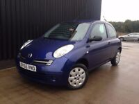 2005 (55) Nissan Micra 1.2 16v S 3dr Cheap to run & Insure, 12 Months MOT, 1 Month Warranty, May Px