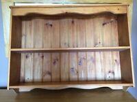 Pine wall shelf