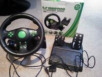 Gaming Steering Wheel Xbox360/Ps3/Ps2/Pc