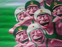 Laughing Faces by contemporary Chinese artist Yue Minjun - Unframed Canvas Print - 60 x 70 cm approx