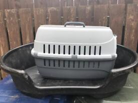 Dog bed and dog carrier