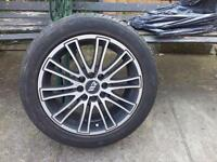 Alloys wheels with tyres 15inch