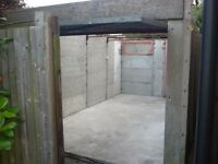 Free Concrete Sectional Garage without roof. Buyer must dismantle and remove from site.