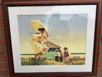 Beautiful Vettriano framed print - A Very Dangerous Beach