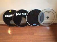 "Wokingham Drum Sales - Various 20"" Bass Drum Heads - Remo Evans Premier"