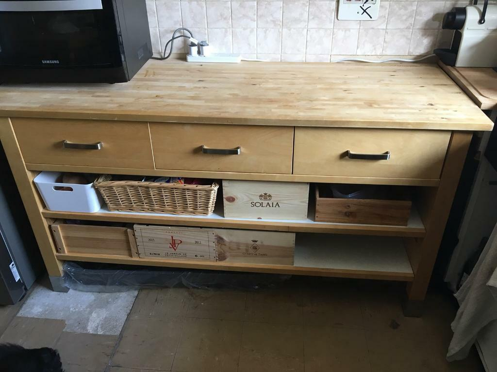 Ikea Varde Kitchen Freestanding Storage Unit With 3