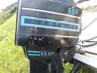 1973 Mercury 65 hp with tilt and controls. needs lower end unit.