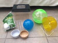 Hamster / small rodent accessories and travel carrier