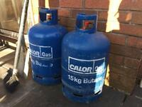 15kg calor gas bottles (empty)