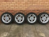 BMW Winter Tyre and Alloy Wheel Set (4) - 205/55/16 91H 5/120 bolt circle 8mm tread