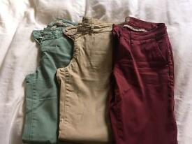 3 x fat face chinos in excellent condition