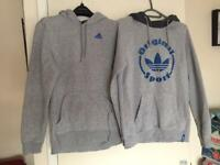 2 Grey Adidas Hoodie Jumpers..both for £5