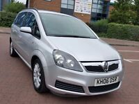 7 SEATER VAUXHALL ZAFIRA CLUB 1.6 PETROL 1 YEAR MOT PART EXCHANGE WELCOME