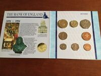 1994 United Kingdom Brilliant uncirculated coin collection, contained in a presentation folder