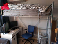 Metal frame single cabin bed £50