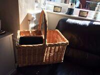 open top picnic basket