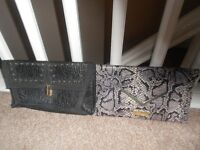 River Island & Jane Norman Clutch Bags (1 still with tags)