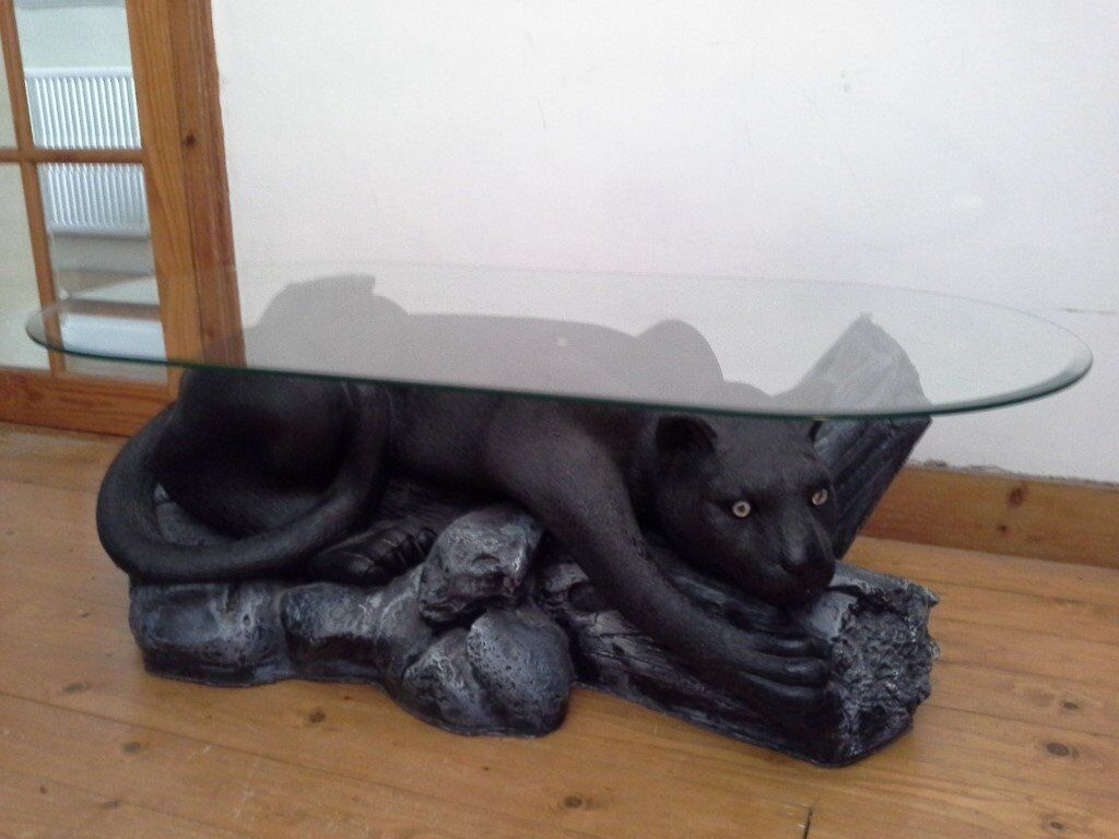 Black Panther Glass Coffee Table In Tottenham London