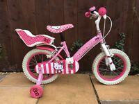 """14"""" Girls Hello Kitty bike."""