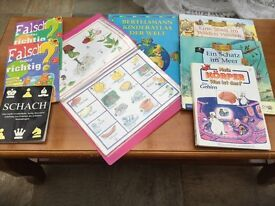 Many German books and worksheets for children